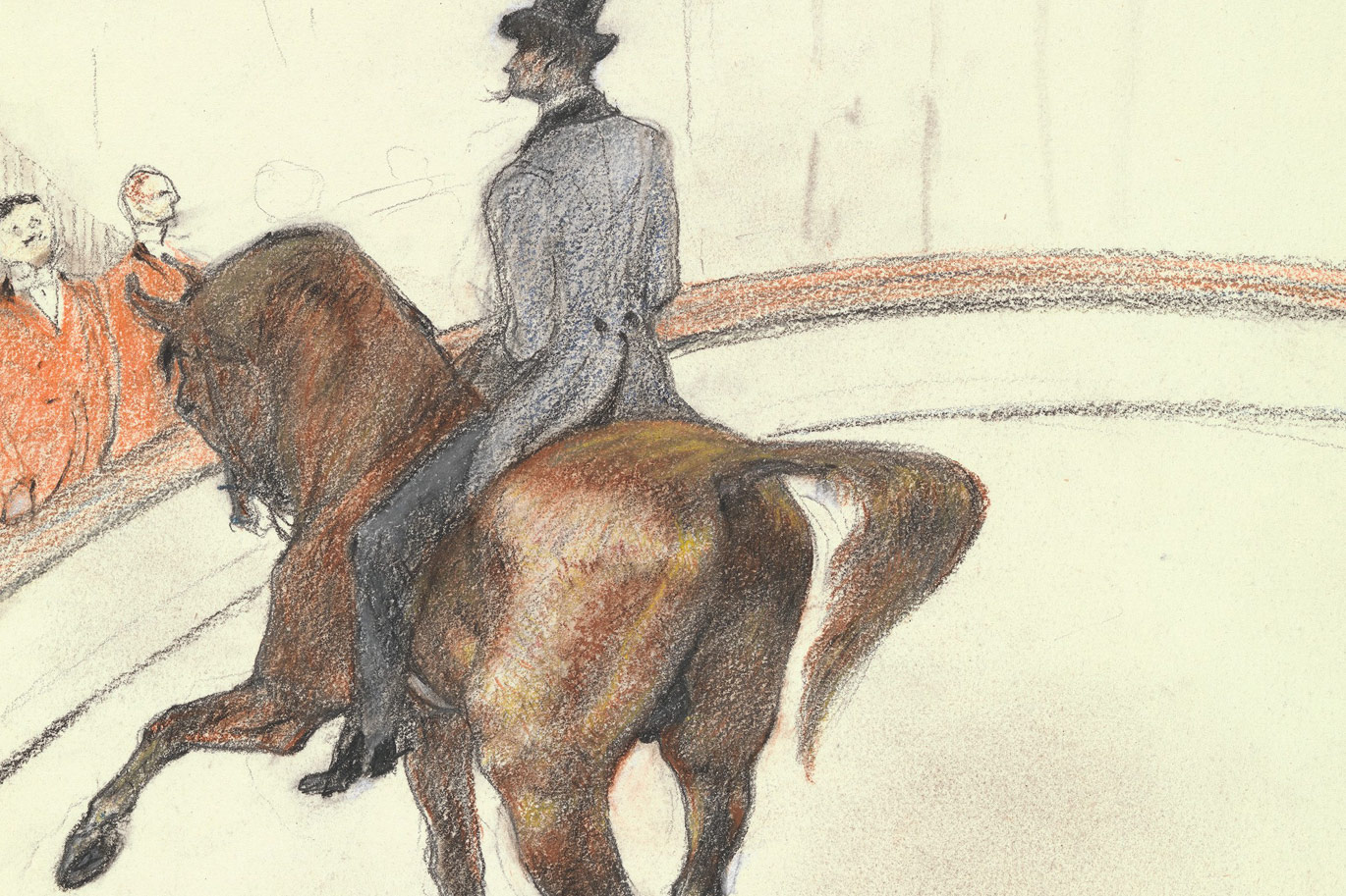 At the Circus: The Spanish Walk by Henri de Toulouse-Lautrec