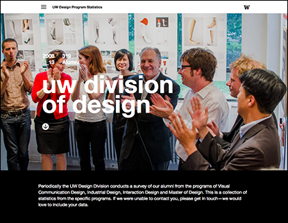 Design Alumni Survey homepage