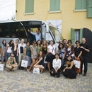 Christopher Ozubko and students in Italy