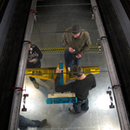 View from above into wind tunnel