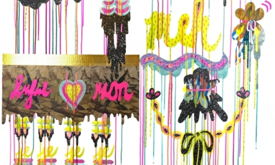 Bows and Drips by Julie Alpert