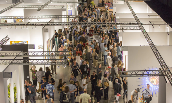 Aerial view of Seattle Art Fair