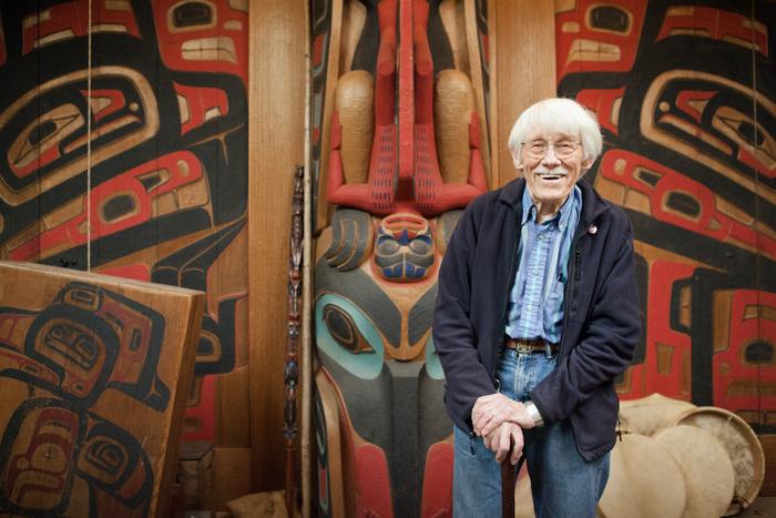 Bill Holm in his studio