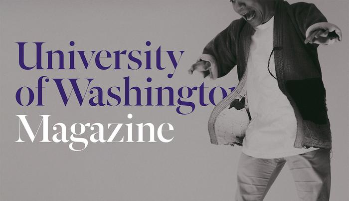 Jordan Nicholson on UW Magazine cover