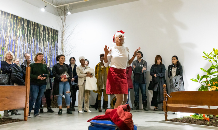 Marisa Williamson performance in Jacob Lawrence Gallery
