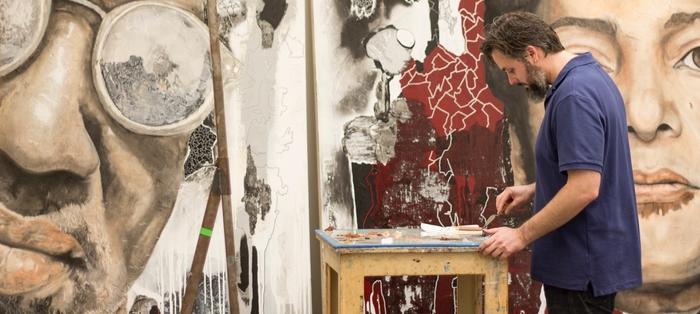 Mia Sarani painting studio