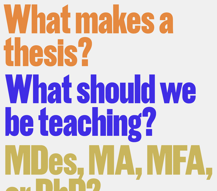 Question prompts for A Symposium on Design Graduate Education