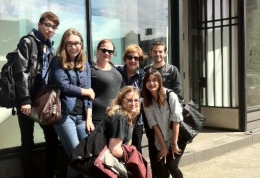 class visiting Greg Kucera Gallery