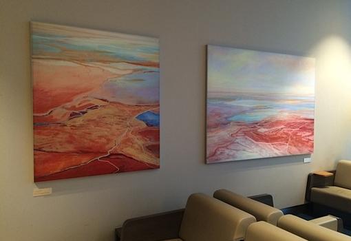 Govedare's paintings on display