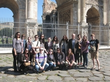2011 Art History Seminar in Rome group