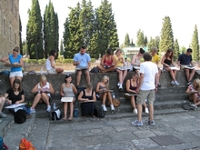 Curt Labitzke with students in Florence, 2008