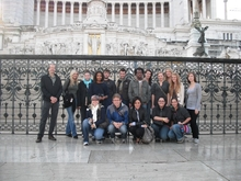 Curt Labitzke with students in Rome, 2009