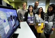 students at Microsoft Research Design Expo
