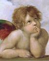 Sistine Madonna (detail) by Raphael