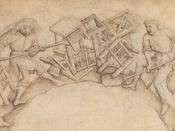 Men Shoveling Chairs by Circle of Rogier van der Weyden