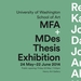2014 MFA + MDes Thesis Exhibition poster