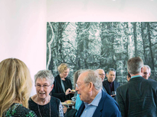Anne Focke and others at reception
