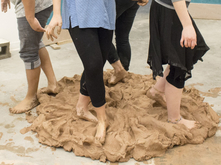 Clay foot wedging
