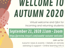 autumn welcome back event