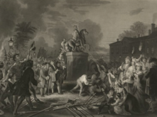 Pulling down the statue of George III . . . July 1776
