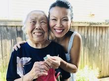 Benita Cooper with grandmother
