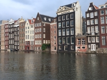 Amsterdam canal houses by Caitlyn Sullivan