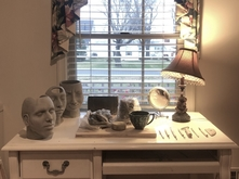 Carley Long's home work space for ceramics
