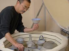 Ceramics kiln being loaded