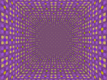 Pattern Room with Diamonds and Squares, Violet by David Brody