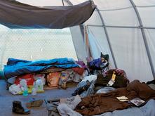 Tent interior by Eirik Johnson