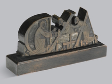 Printing block for Golden Cockerel Press Bible by Eric Gill