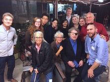 Flora Mace, Joey Kirkpatrick, Dale Chihuly, and others at Glass Facilities Celebration