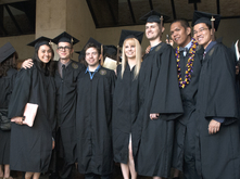 graduating students in caps and gowns