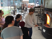 Hot glass demonstration during 2015-2016
