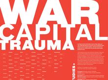 War, Capital, and Trauma poster by Karen Cheng