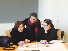 Kay Walkingstick, Kathleen Ash-Milby, and NMAI exhibition designer