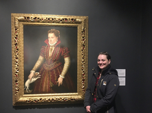 Lane Eagles with portrait by Lavinia Fontana