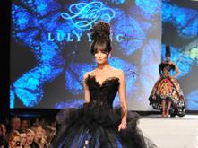 Blue Morpho dress by Luly Yang