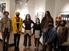Museum guide interns with Berette Macaulay