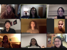 Museum guide interns on Zoom with Berette Macaulay