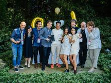 Students receiving award at Design Expo 2016