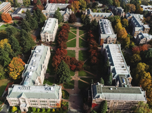 Aerial view of The Quad