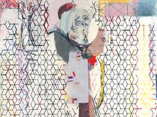 becoming 1, a painting by Sangram Majumdar