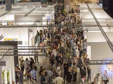 Aerial view of Seattle Art Fair