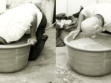 Changes--Performance with Drying Slip, 1972, Jim Melchert