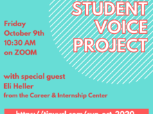 student voice project fall meeting