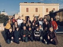 Students and Professor Ellen Garvens in Rome